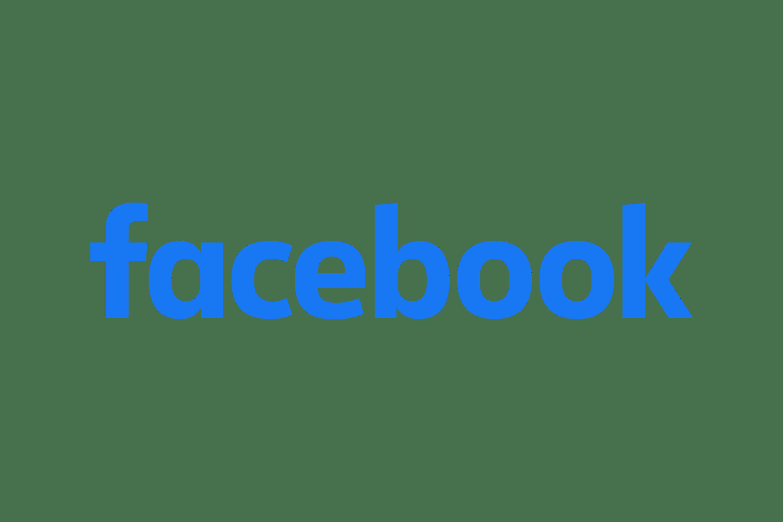 facebook written logo